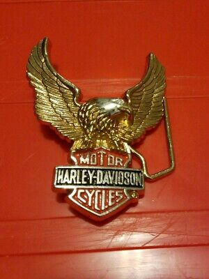 BELT BUCKLE HARLEY AUSSIE STOCK ! DAVIDSON MOTOR CYCLES PERCHED EAGLE