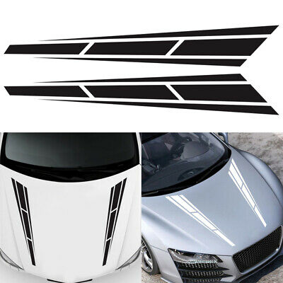 D-986 Car Decoration Hood Decal Sticker Sports Style Stripe For Auto Side Body