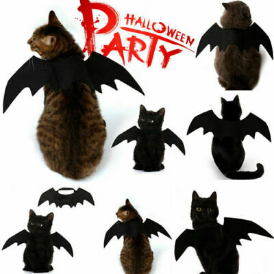 Cosplay Pets Clothes Halloween Bat Wings Costume Cat Dog Gift Dress Jackets S-L
