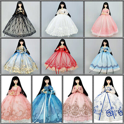 "Sequin Fashion 1/6 Doll Clothes For 11.5"" Doll Dress Outfits Wedding Dress Toy"
