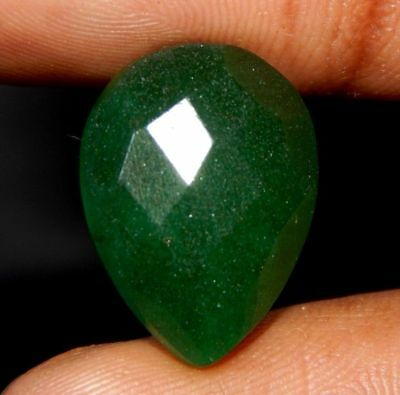 Dyed Faceted Beryl Emerald Marvelous Loose Gemstone 10 ct 16x13 F58
