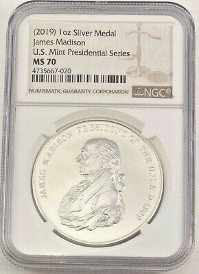2019 Silver James Madison Presidential Series NGC MS70 (7020)
