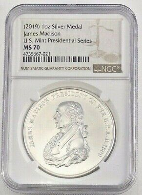 2019 Silver James Madison Presidential Series NGC MS70 (7021)