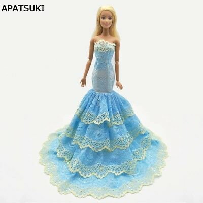 """Green Lace Mermaid Clothes For 11.5"""" Doll Outfits Dress For 1/6 Doll Clothes Toy"""