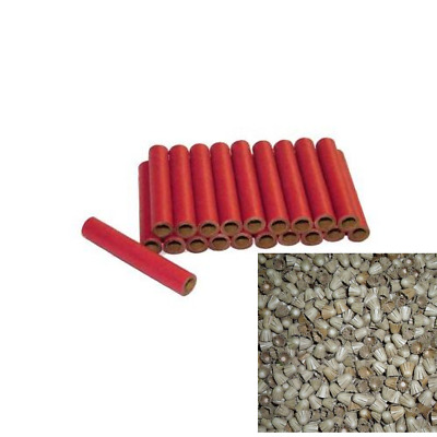 50 Pc Bottle Rocket Firecracker Kit Fireworks Tubes With 100 End Caps Plugs