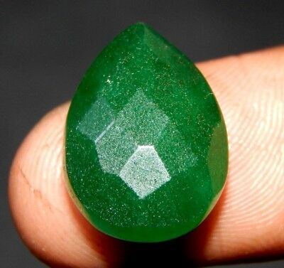 Faceted Dyed Beryl Emerald Gemstone 13 ct 18x13 F125
