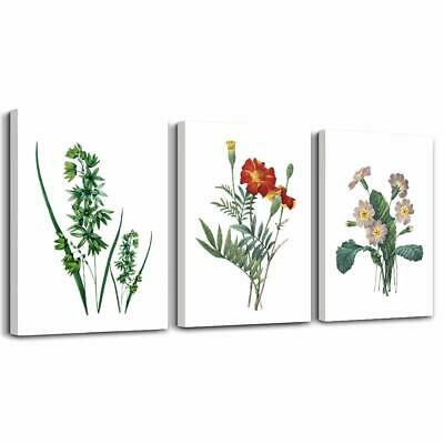 Green Leaves Plants And Flowers Modern Home Art Bathroom Wall Decor,Posters Ca