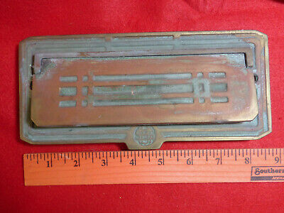 "Vintage Cast Brass Signs Red Enamel On Brass So cool $10 Each. 3.875"" X 1.5"""