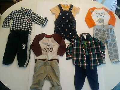 Baby Boy Clothes Lot: OshKosh Cat and Jack Carter's Janie& jack 12-18months