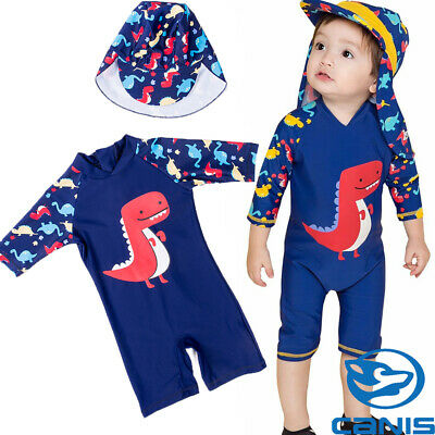 New Baby Kids Boy Summer Beach Swimwear Swimsuit Swimming Costume Trunks+Cap Set