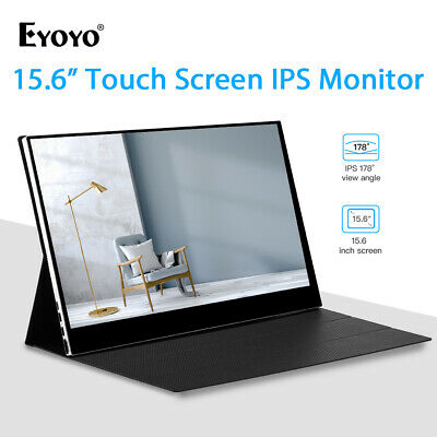 Eyoyo 15.6 Inch Touch Screen HDMI IPS USB-C Monitor Second Screen for Mackbook