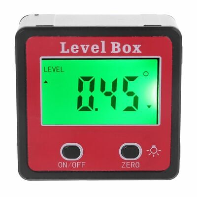 Digital Protractor Spirit Bevel LevelS Box Angle Finder Gauge Meter Inclinometer