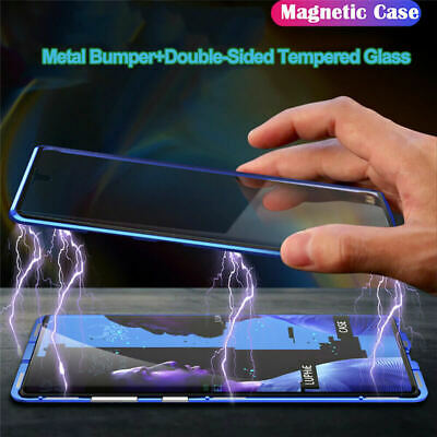 For Samsung Galaxy Note 10 Plus 5G Magnetic Metal Double Sided Glass Case Cover
