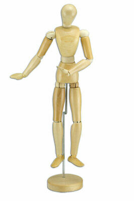Wood Figure Manikin Wax Finish - Male 16""