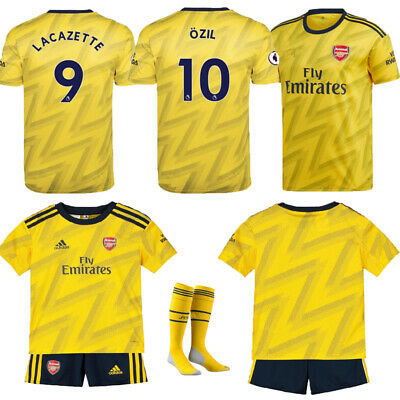 19-20 Football Kits Soccer Suits Kids Adults Jersey Strip Sports Outfit+Socks