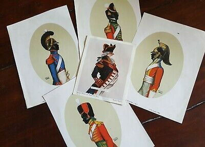 Job Lot wholesale 5 large Silhouettes Prints to resell or frame Antique Vintage