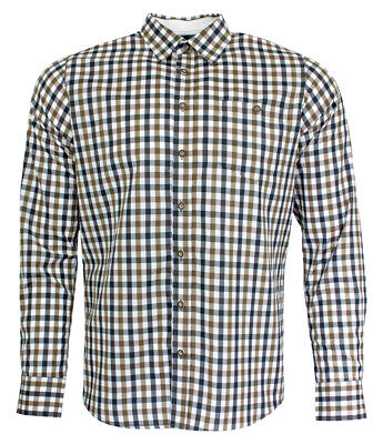 Maddox Slim Fit Traditional Shirt Ludwig Braun Checked Men's to Leather Pants