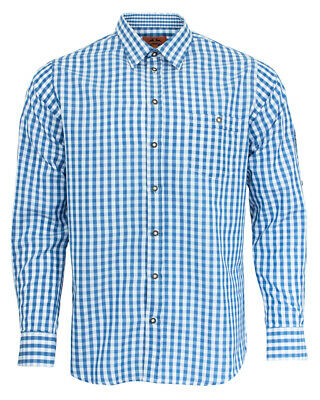 Maddox Slim Fit Traditional Shirt Niels Blue White Plaid - to Leather