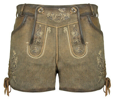 Maddox short Women's Leather Pants Maila - Antique Marone - Oktoberfest