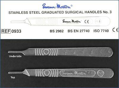 Swann Morton No. 3 Stainless Steel Scalpel Handle For 6 To 16 Surgical Blades