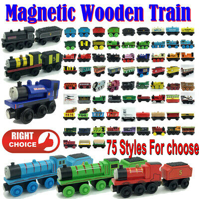 The Tank Engines Carriages Magnetic Wooden Train Toy Take-n-play Engine Set Kids