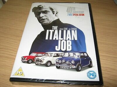 The Italian Job - 40th Anniversary Edition [2 x DVD] [1969] Michae New Sealed