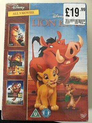 The Lion King Trilogy (2014 DVD) All 3 movies