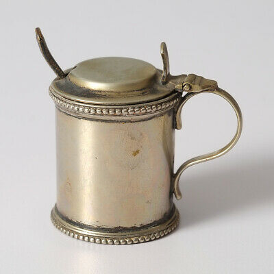 Vintage Walker & Hall Mustard Pot And Spoon