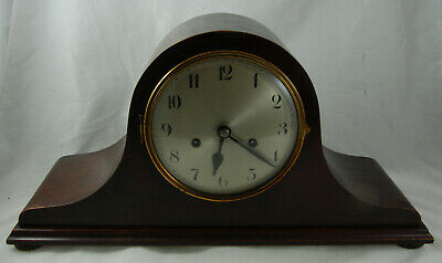Vintage Wooden Cased Napoleon Hat Chiming Mantle Clock - Working with Key