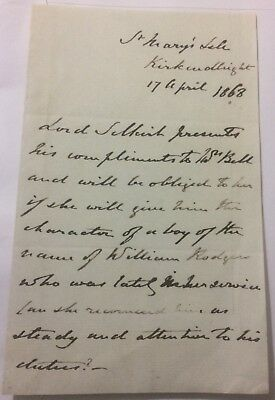 Dunbar Douglas, 6th Earl of Selkirk - had Canadian land -1868 ALS:need reference