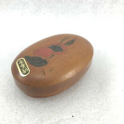 L19 Japanese Wood Carving  Incense Box /Keepsake Trinket Box