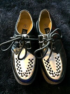 Anarchic Creepers Black & White UK Size 5