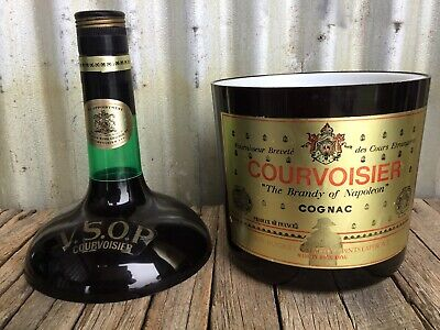 VINTAGE Novelty COURVOIRSIER VSOP COGNAC Bottle Shaped ICE BUCKET