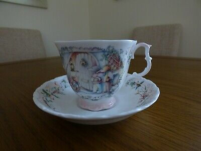 Royal Albert Bone China cup and saucer. The Carol Singers from the Wind in the W