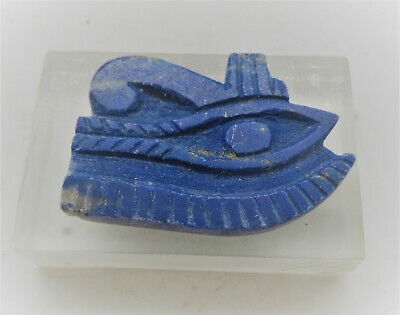 Beautiful Ancient Egyptian Lapis Lazuli Wedgat Eye Of Horus Pendant