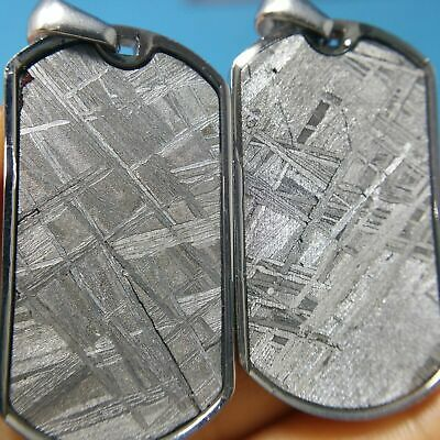 Choose 1 Meteorite Dog Tag Pendant Muonionalusta Iron-Nickel Widmanstatten