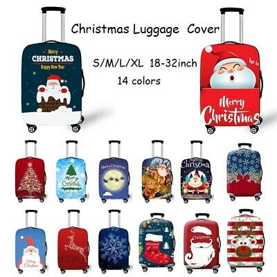 """Christmas Travel Suitcase Case Cover Protector Elastic Dust proof Luggage 18-32"""""""