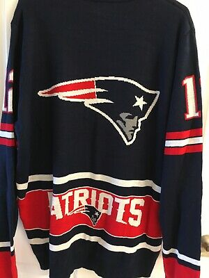 New England Patriots Sweater Size XL Tom Brady #12