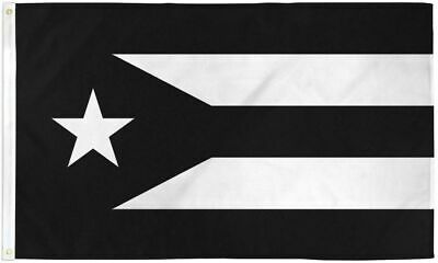 Resistance Flag of Puerto Rico 3x5 ft Black & White Protest Puerto Rican Boriqua