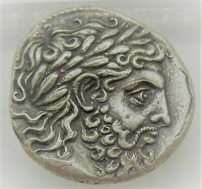 Ancient Greek Ar Silver Tetradrachm Coin Phillip Ii 14.6Grams