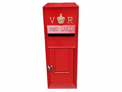 Replica GPO Wall Mounted Royal Mail Victoria Regina VR Post Letter Box - Red