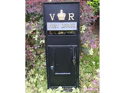 Replica GPO Wall Fascia Royal Mail Victoria Regina VR Post Box  - Black