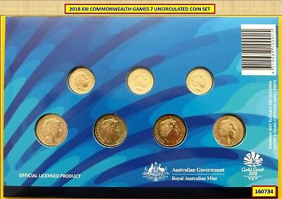 2018 XXI COMMONWEALTH GAMES 7 UNCIRCULATED COIN SET 160734a-f...^