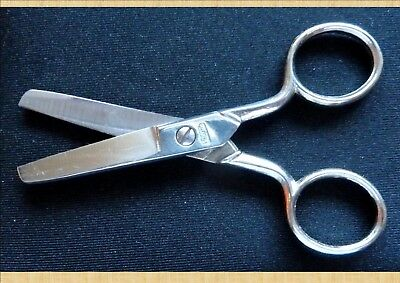 """16 PAIRS OF SMALL METAL DUAL ROUND END CRAFT SCISSORS 105mm (4⅛"""")...^"""