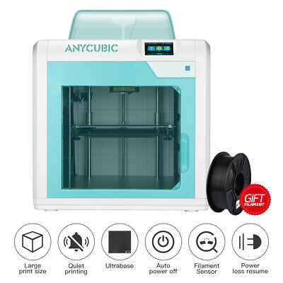 CA ANYCUBIC 4MAX Pro FDM 3D Printer Ultrabase Heated Fully Assembled PLA ABS TPU