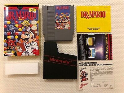 Dr Mario ( Nintendo Entertainment System ) NES , Complete in Box - CIB