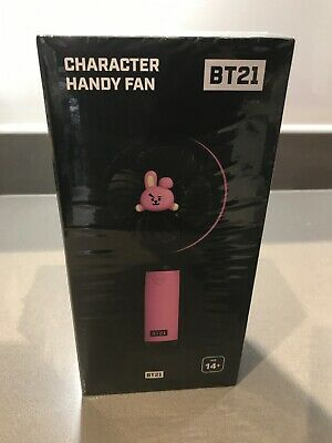 New Official BTS BT21 Fan With Stand - COOKY- UK Seller