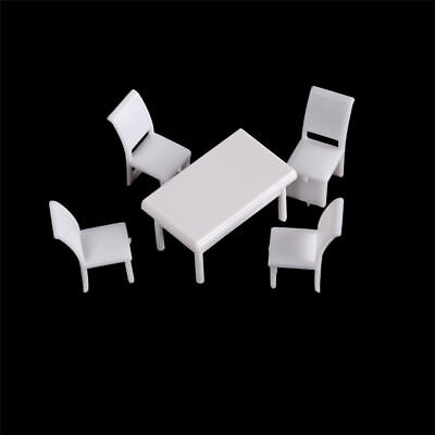 Table Chairs Miniature Landscape Fairy Garden Decoration Dollhouse Accessory#W
