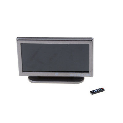 1:12 Dollhouse Miniature Widescreen Flat Panel LCD TV Remote Gray Home Decor#W
