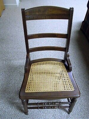 Charles Eastlake Style Antique Side Chairs (5) With New Cane Seat-local pickup